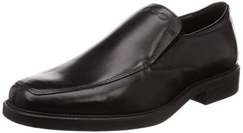 Geox BRANDOLF U844VD Herren Slipper,Männer College Schuh,Loafer,Halbschuh,elegant,Business-Schuh,Anzugschuh,Office-Schuh,Büro-Schuh,Freizeitschuh,SCHWARZ,43