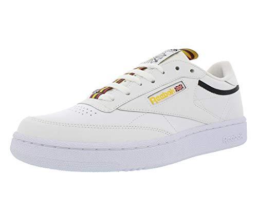 Reebok Mens Club C 85 MU Leather Fitness Tennis Shoes White 10.5 Medium (D)