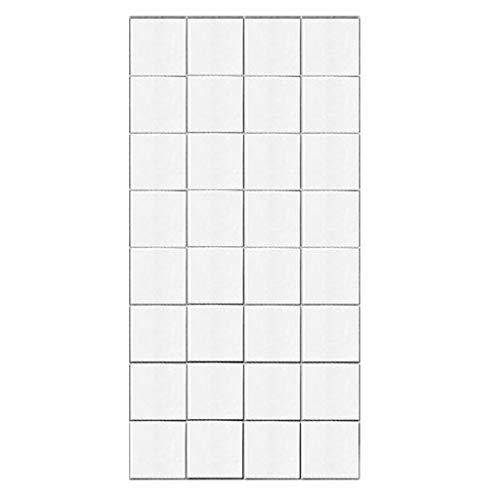 DEtrade White Plaid Wall Sticker Möbel Wandrenovierung Selbstklebender Wandaufkleber Wandpaneele Selbstklebend - Moderne Wandverkleidung in Steinoptik (White)