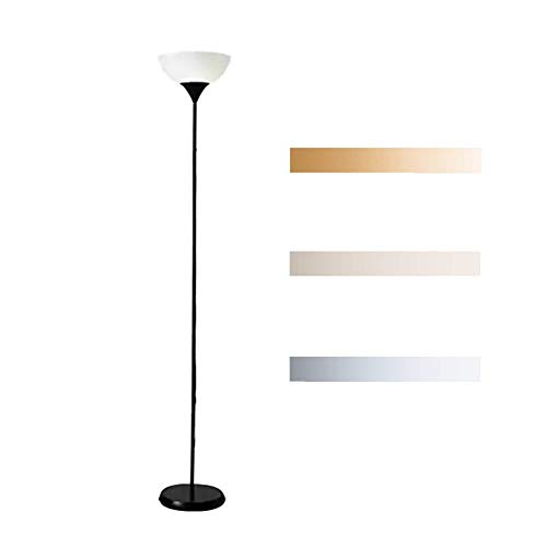 WLKDMJ Vloerlamp, voor woonkamer moderne Staande Lamp Lezen Lamp Torchiere Licht Hoge Staande Paal Licht 12W/drie-kleuren dimmen/afstandsbediening dimmen