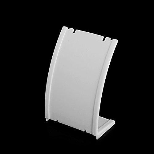 MYA - 1 soporte de cristal para colgante, collar, colgante de cadena, pendientes, busto, cuello de plástico, expositor de soporte de vitrina