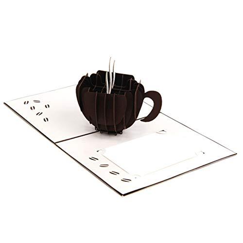 aixingwuzi economische kaart handgemaakte koffie groet individuele 3D DIY kaart schoonheid praktische