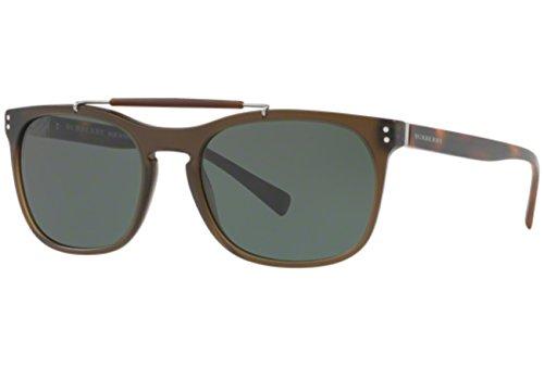 BURBERRY 0BE4244 361671 56 Gafas de sol, Verde (Matte Green/Green), Hombre