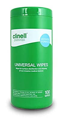 Clinell Universal Wipes - Tub of 100 from Gama Healthcare