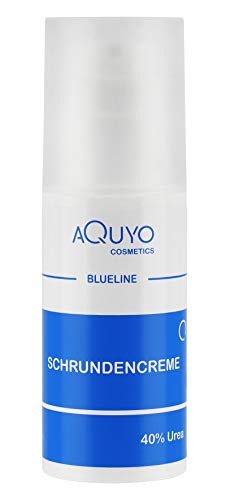 Blueline Schrundencreme 40% Urea, Fußcreme zum Hornhaut entfernen, Creme für rissige Fersen und Füße, zur Behandlung von Schrunden (Rhagaden) an Händen, Ellenbogen oder Füßen (100ml)