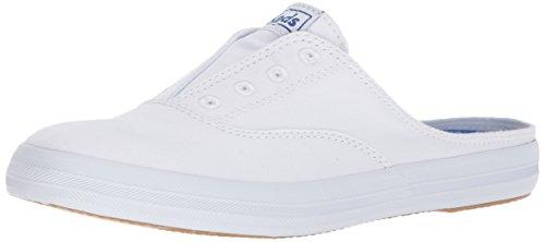 Keds womens Moxie Mule Slip on Sneaker, White, 7.5 US