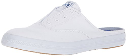 Keds womens Moxie Mule Slip on Sneaker, White, 10 US