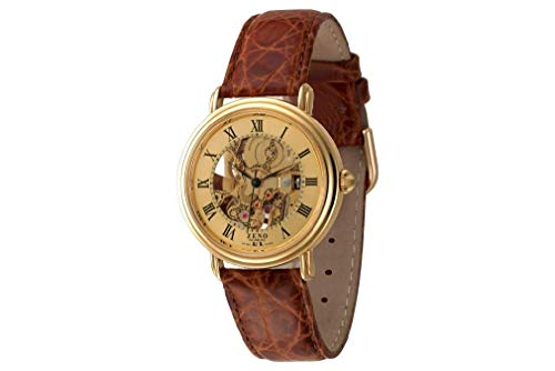 Zeno Watch Basel Herren Uhr Analog Mechanik mit Leder Armband ES95-Pgg-i6