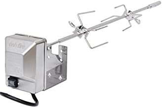 onlyfire Stainless Steel Grill Rotisserie Kit Fits for Weber Genesis II and Genesis II LX 200 and 300 Series Gas Grills