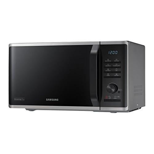 Samsung MG23K3515AS Forno Microonde Grill, 23 Litri, 800 W, con Contenitore Mantieni in Caldo, Nero