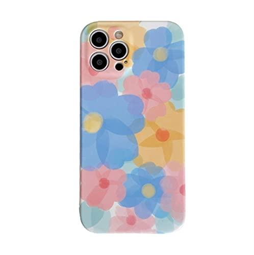 YLFC Funda De Teléfono con Diseño De Flores para iPhone Carcasa Suave con Diseño Artístico De Flores para iPhone 11 12 Pro MAX XR XS MAX 7 8 Plus X 7Plus (Color : A, Size : For iPhone 7 Plus)