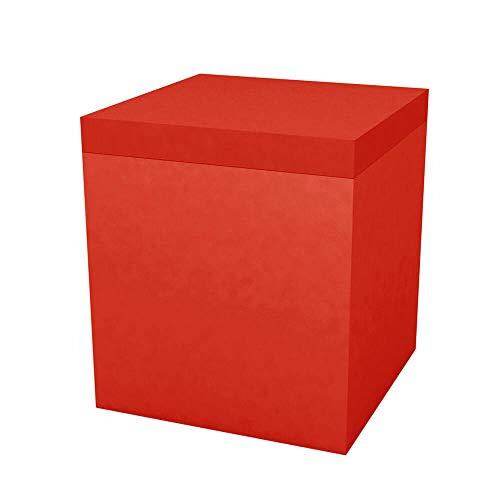 Vondom vierkante zitzak voor buiten, 40 x 40 cm, hoogte: 45 cm, rood