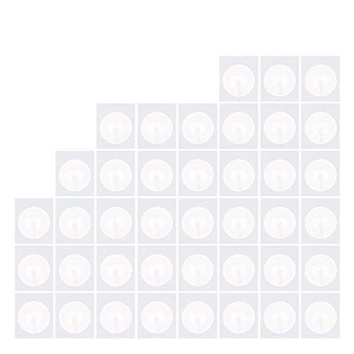 40 Pieces NFC Sticker NTAG 215 Compatible with Amiibo and TagMo Fully Programmable NTAG215 NFC Tags Circular Stickers Works with Android and All NFC Enabled Devices,Round by Timeskey NFC