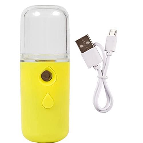 BRAVOLUNE Facial USB Rociador De La Niebla De Recarga De Mano Vapor De La Cara para La Piel 30ml Cuidado Hidratante Hidratante Amarillo