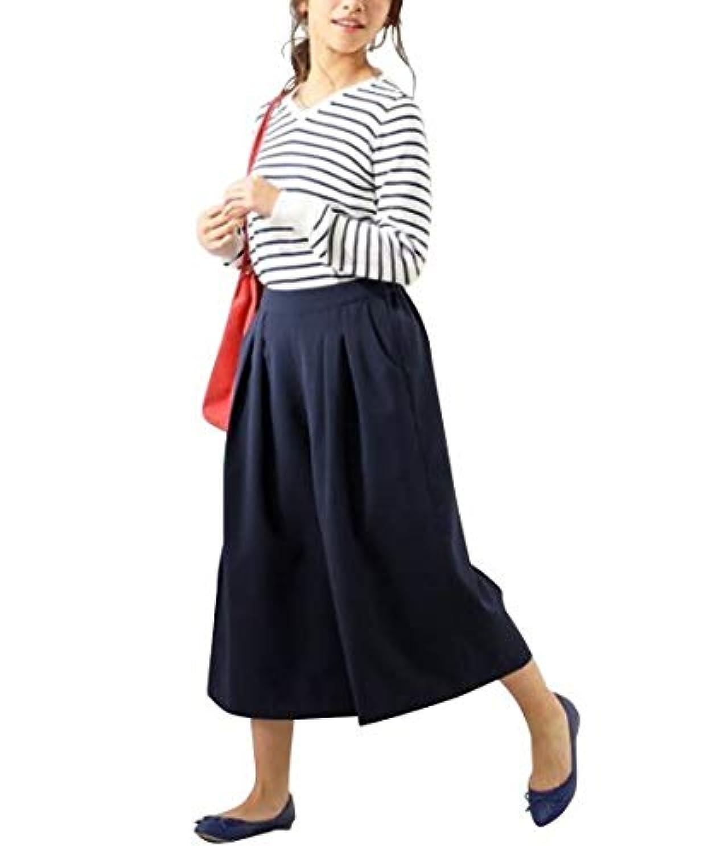 [nissen(ニッセン)] 小さいサイズ ダブルクロスガウチョ パンツ 小さいサイズ レディース