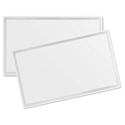 Jixista 2× Coche Espejos Maquillaje Espejo de cosmética para automóviles Espejo de tocador Autoadhesivo de Acero Inoxidable Espejo de Maquillaje de Autos portátiles para Visera y Asiento Trasero