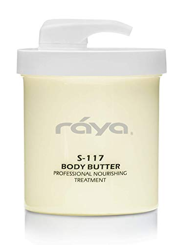 RAYA Body Butter 16 oz (S-117)   Very Thick Body Moisturizer for Dry, Cracked Hands and Feet   Can Be Used as a Luxurious Massage Cream   Great for All Skin