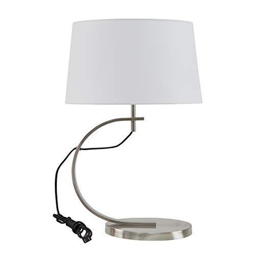 "Octavia Silver Black Table Lamp , Transitional Table Lamps for Bedrooms , 17""L x 17""W x 26.5""H , Black"