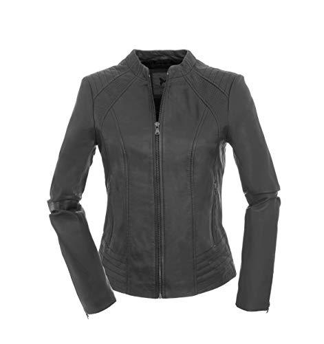 Magnifica Jacket dames echt lederen jas Ambra in zwart van lamsnappa leer