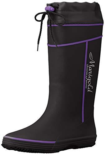 [オカモト] マリーゴールド RL-1901 カバー付き婦人用長靴 レディース ブラック 24 cm