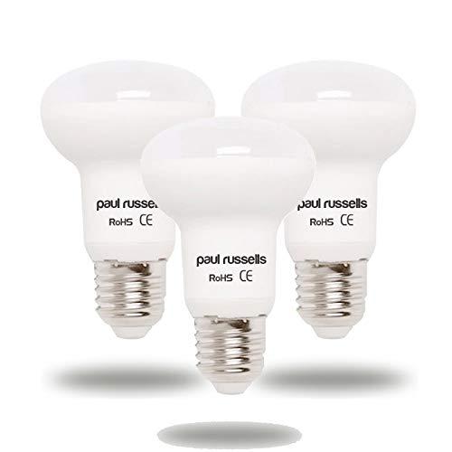 Paul Russells Reflektor-LED-Leuchtmittel, 5 W, E27/ES/Edison-Schraube, hell, 5 W = 40 W, R63, 120 Strahler, Tageslicht, 6500 K, entspricht 40 W Glühlampen, 3 Stück
