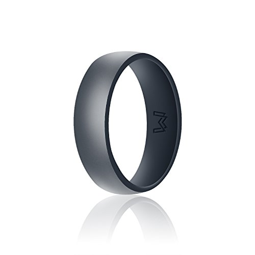 WIGERLON Mens Silicone Wedding Ring&Rubber Wedding Bands for Workout and Sports...
