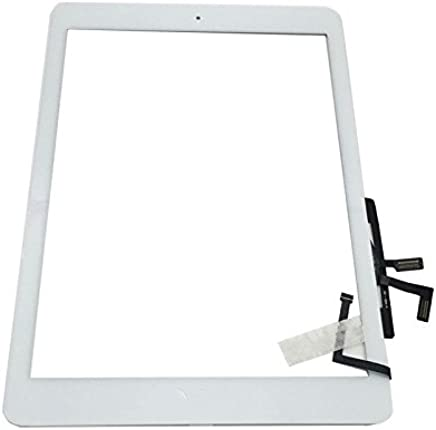 "Digitizer Replacement Touch Screen for Ipad Air 1 1st Generation A1474 A1475 A1476, Aiiworld 9.7"" Touch Panel Parts with Home Button, Camera Bracket, Adhesive Pre-Installed (White)"
