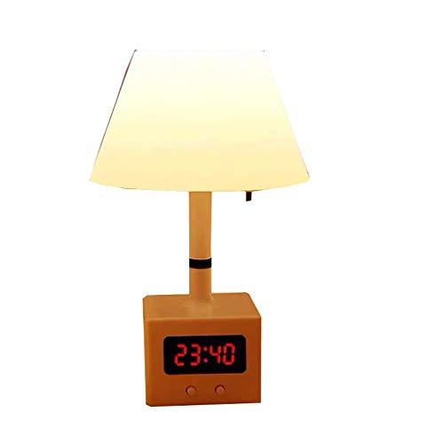 Oplaadbare Night Light Sensor Traploos Dimmen Bedlampje Tafellamp For Kids Bedroom Rechargeable (Color : Warm light, Size : With clock)