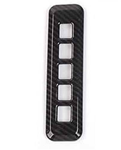 Yunjingchenman Car Styling Puerta contraseña código de bloqueo del marco interruptor de botón Ajuste de la cubierta for el parachoques for Ford F150 2015+ accesorios del coche (Color Name : Orange)