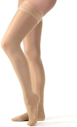 Sheer Therapy Our shop most popular 15-20 mmHg Thigh High Over item handling ☆ with Top Toe Closed Lace N