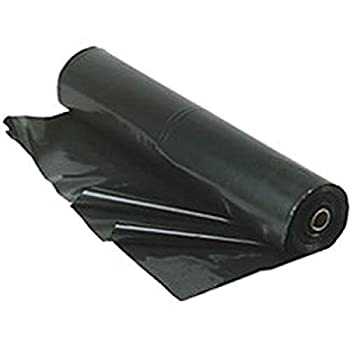 TRM Manufacturing 610B Weatherall 6 Mil Black Poly Plastic Sheet 1 Box of 100 Feet Long by 10 Feet Wide
