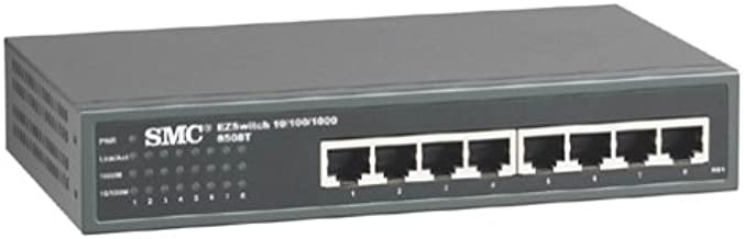 SMC Networks SMC8508T 10/100/1000Mbps Unmanaged 8 Ports Jumbo Frame Support Rack Mountable Switches