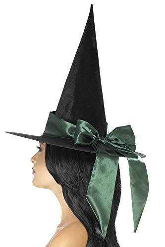 SMIFFYS Cappello da Strega Halloween Deluxe con Arco Verde