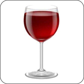Hinweisschilder,Piktogramme - Weinglas farbig -