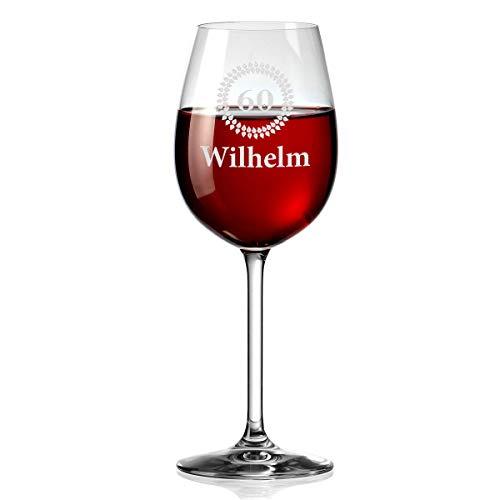 polar-effekt Leonardo Weinglas Personalisiert mit Gravur - Rotwein-Glas 460ml - Geschenkidee zum Geburtstag - Gravur Motiv Jubiläum
