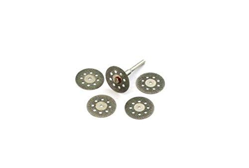 Revesun 10 Pcs Diamond Cutting Discs Drill Bit For Rotary Tool Dremel Stone Blade 22mm