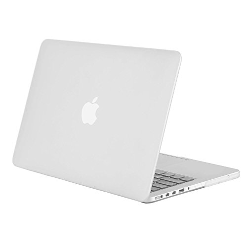 MOSISO Plastic Hard Shell Case Snap On Cover Only Compatible with Older Version MacBook Pro 15 inch Model A1398 with Retina Display (2015 - end 2012 Release), Frost