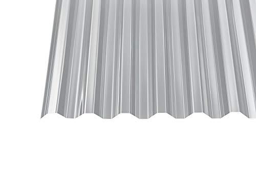 Acryl Wellplatten Profilplatten Trapez 76/18 klar ohne Struktur 1,5 mm (4000 x 1045 x 1,5 mm)