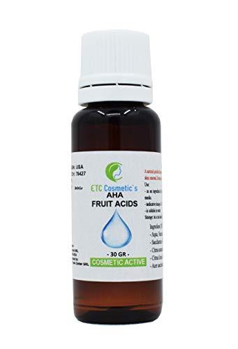 AHA Acide de fruit (AHA FRUIT ACID) - 30 Gr - peeling de la peau | Utilisation comme ingrédient dans les formulations cosmétiques: crèmes, lotions, gels, masques, tonifiants, sérums aqueux