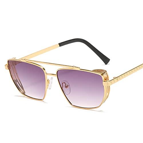AMFG Gafas de sol de gafas de sol punk retro de gafas de sol de metal gafas de sol (Color : U)