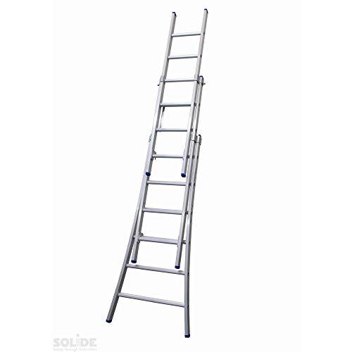 Ladder Type D gecoat driedelig uitgebogen 3x6 sporten