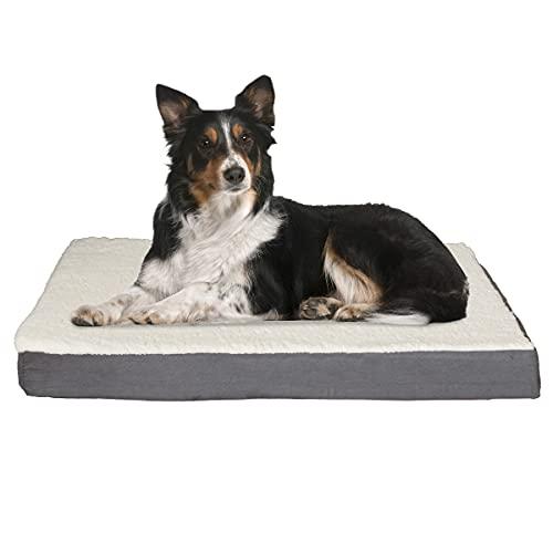 PETMAKER Orthopedic Sherpa Top Pet Bed with Memory...