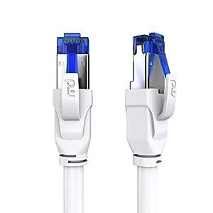 Primewire- 20m Cable de Red Cat.8 40 Gbits - S FTP PIMF - Switch Router Modem Access Point - Cable Ethernet LAN Fibra óptica