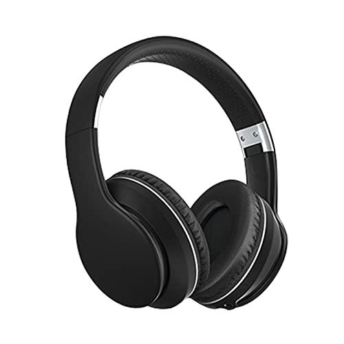 HYK Auriculares Bluetooth, Auriculares estéreo inalámbricos Plegables, Auriculares inalámbricos y con Cable con Auriculares para Juegos de TV/teléfono móvil/PC(Black)