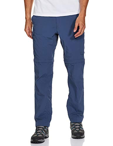 Columbia Men's Big and Tall Silver Ridge Convertible Pants, Dark Mountain, 42x28-B&T