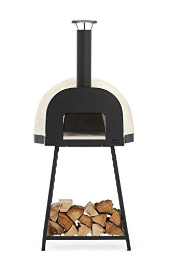 Jamie Oliver Dome 60 Leggero Italienischer Pizzaofen und Holz-Backofen Ofenfläche inklusiv Pizzaschieber und Ofenbürste, Beige, Durchmesser 60 cm