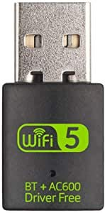 Wireless Wi-Fi Dongle 600mbps Dual Band 2.4G/5.8G USB Bluetooth V4.2 Network Card WIFI Receiver for Laptop Desktop PC-F1