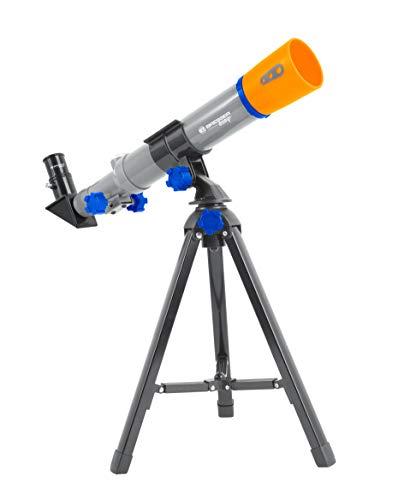 Bresser Optics 8840350 Refractor 32x Gris, Naranja - Telescopio (34 cm, 180 g, 5,5 cm, De plástico)