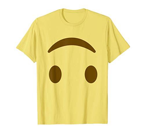 Disfraz del grupo de Halloween de Smiley Face Emoji al revés Camiseta