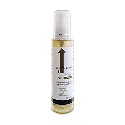 Gel de Higiene Intima Hombre con PH 4.0 – Acido Láctico + Aloe Vera + Lactobacillus + Aceites Esenciales – Suaviza hidrata y calma la piel de la zona intima del hombre – 200 ml